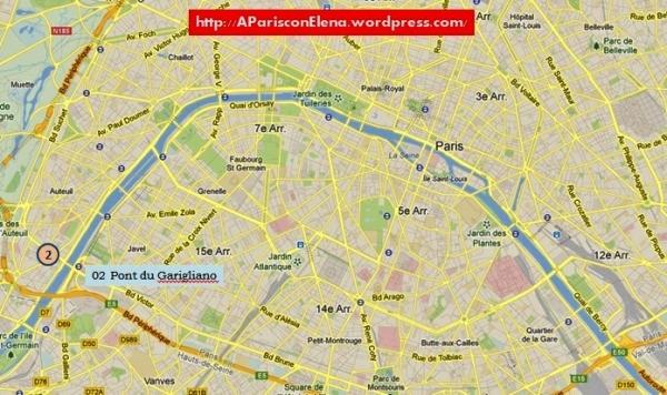 Mapa de situación del Pont du Garigliano.