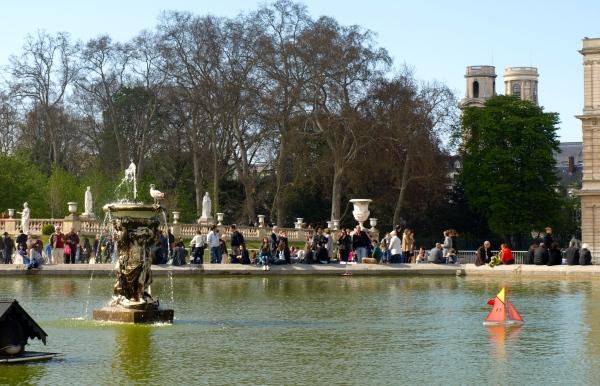 El Grand Bassin de los Jardines de Luxemburgo.
